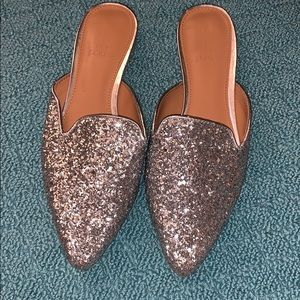 NEW J.CREW FACTORY SEQUIN MULES SHOES 7
